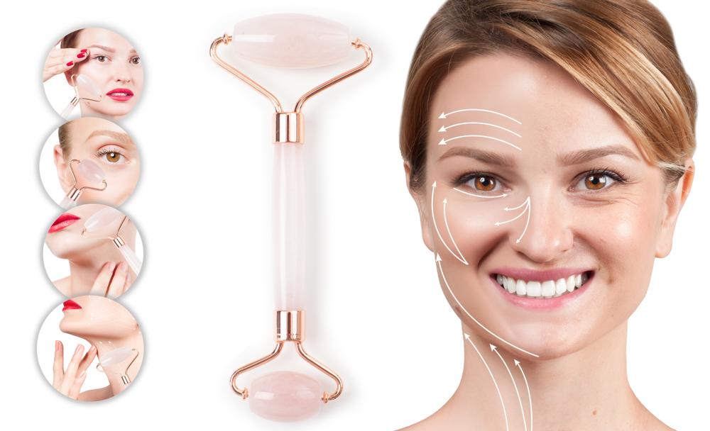 Face Roller Anwendung Gesicht