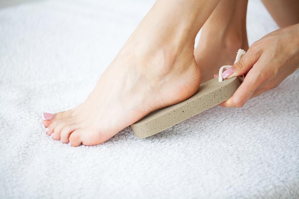 Bimsstein Fuß Pflege